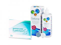 PureVision 2 (3 linser) + Gelone linsvätska 360 ml