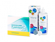 PureVision 2 for Presbyopia (3 linser) + Gelone linsvätska 360 ml