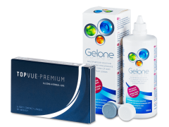 TopVue Premium (6 linser) + Gelone Linsvätska 360 ml