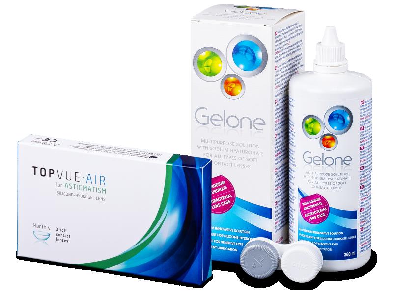 TopVue Air for Astigmatism (3linser) + Gelone 360 ml Linsvätska