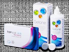 TopVue Air Multifocal (3 linser) + Gelone linsvätska 360 ml