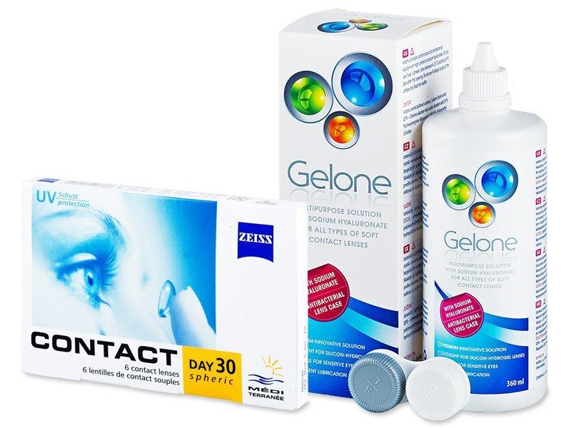Carl Zeiss Contact Day 30 Spheric (6 linser) + Gelone linsvätska 360 ml