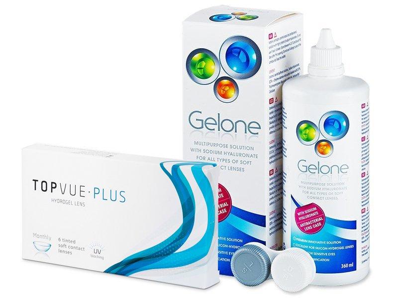 TopVue Monthly Plus (6 linser) + Gelone linsvätska 360 ml