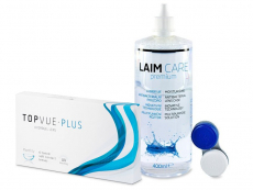 TopVue Monthly Plus(6 linser) + LAIM-CARE linsvätska 400 ml