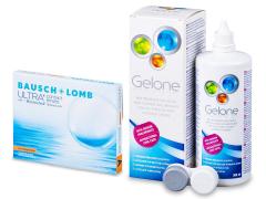 Bausch + Lomb ULTRA for Astigmatism(3 linser) + Gelone linsvätska 360 ml