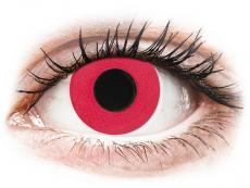 CRAZY LENS - Solid Red - Endags dioptrisk (2 linser)