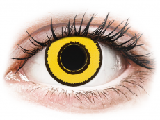 CRAZY LENS - Yellow Twilight - Endags dioptrisk (2 linser)