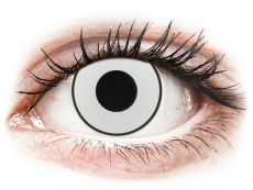 CRAZY LENS - White Black - Endags dioptrisk (2 linser)