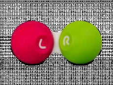 Kontaktlinsfodral - Rosa & grönt