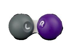 Kontaktlinsfodral - Lila & grått