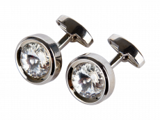Manschettknappar Round Diamond