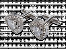 Manschettknappar Clear Gemstone