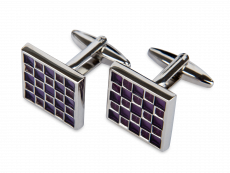 Manschettknappar Purple Grid