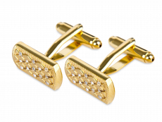Manschettknappar Golden Glitter