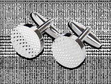 Manschettknappar Round Engraved