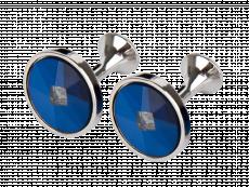 Manschettknappar Round Blue