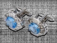 Manschettknappar Blue Gemstone