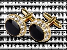 Manschettknappar Black and Gold