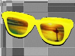 OptiShades kontaktlinsfodral - gul