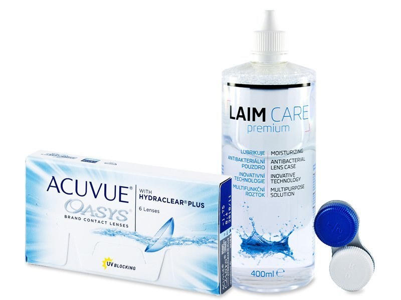 Acuvue Oasys (6linser) +Laim-Carelinsvätska 400ml